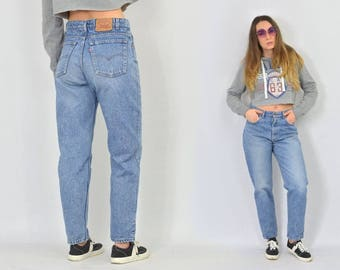 Levis 550 jeans vintage stone wash pants high waisted straight fit leg hipster 1990's W34 L30 L/XL