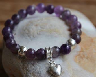 semi precious amethyst Beads Bracelet