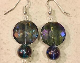 Irridescent Ball Drop Earrings