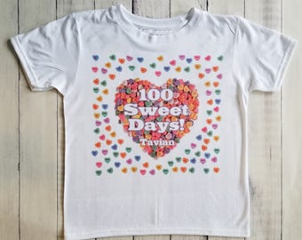 100 Sweet Days Shirt/Personalize It With Your Child's Name For Free.