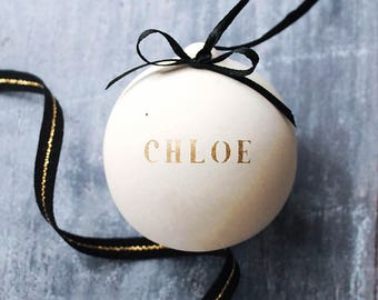 Gold Personalised Name Bauble