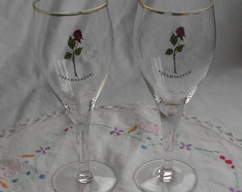 Two Rose Charmaine Champagne Glasses