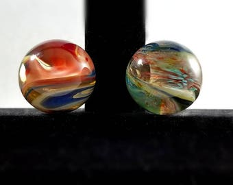 Hot and Cold Swirl Twin Pack Marbles