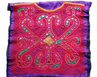 Banjara Patch, Vintage Zari and Beads Embroidery Patch, Zari Work Denim Patch and embroidery
