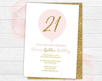 Birthday Invitation Etsy - Birthday invitation gold coast