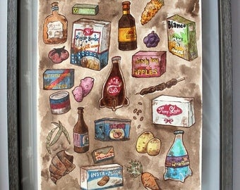 Foods of Fallout original artwork