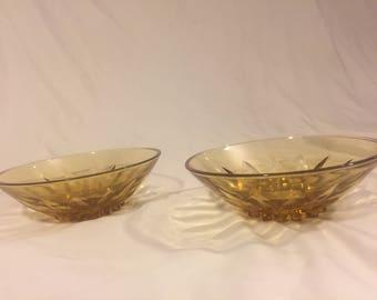 Vintage glass bowls set of 2
