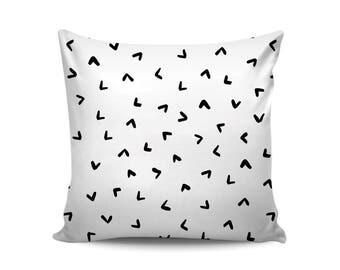 Christmas Gift for Her, Confetti Black White Nursery Pillow Covers, Decorative Throw Pillows, Minimalist Scandinavian Home Decor, Neutral