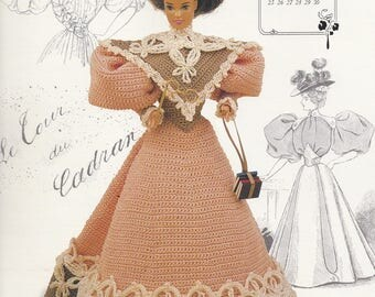 Miss September 1994, Annie's Gibson Girl of the Gay Nineties Crochet Doll Clothes Pattern Booklet 7709