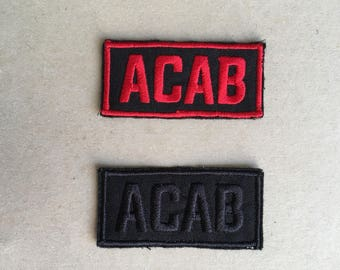 Acab Sew On Embroidered Patch