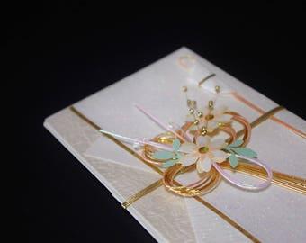 """39.Mizuhiki envelopes This envelope is used for each celebration. A special envelope called """"noshibukuro"""""""