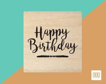 Happy Birthday - 6cm Rubber Stamp (DODRS0022)