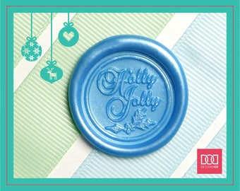 Holly Jolly - Design OD Wax Seal Stamp (DODWS0415)