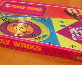 Vintage 1970s Game Tiddly Winks