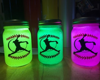 Softball Gift, Nightlight, Softball Nightlight, Lantern, Fastpitch Gift, Softball Pitcher