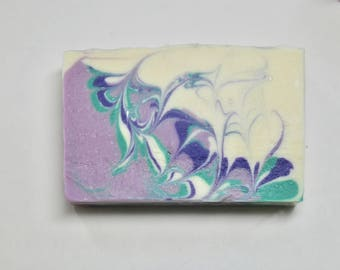 Blooming Lilac Soap, Natural Handmade Soap, Vegan Cold Process Soap, Artisan Soap, Flower Soap, Purple Soap, Spa Gift for Her, Unique Soap