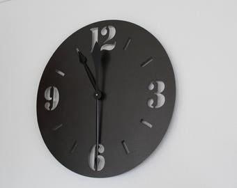 "Custom Made Steel Clock 18"" Cnc Plasma Cut"