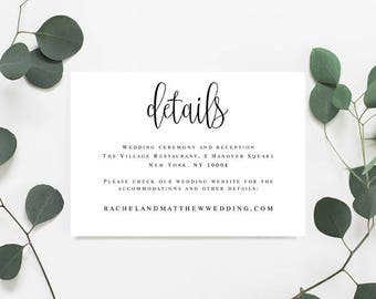 Details card template Details card for wedding Details template Details wedding card Wedding details invitation template Invitation detail