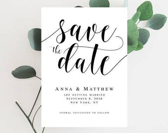 Wedding save the date template Editable template Wedding template Printable save the date Instant download Wedding announcement #vm31