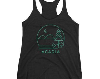 Acadia National Park in Maine Women's Racerback Tank