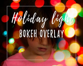 Holiday Bokeh Overlay Christmas Tree Lights