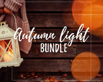 Autumn Light Overlay Bundle for Photographers
