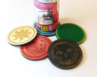 Magic Land Lasercut Wood Coasters