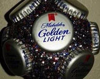 Michelob Golden Light beer bottle cap ornament