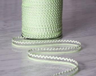 10m de dentelle 18mm, coton/polyester/viscose, vert, orange, (5518)