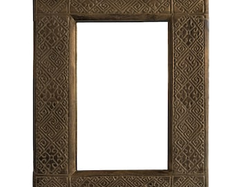Small wooden carving mirror