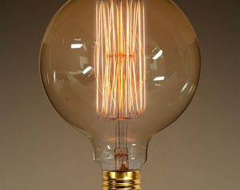 40w G120 5in dia. Oversized Nostalgic Edison bulb sold by Firefly & Co.