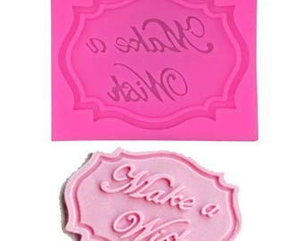 Make a Wish Silicone Cupcake Topper Mould Mat
