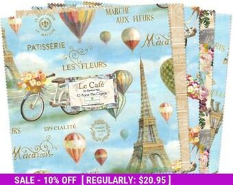 "SALE! Le Cafe' - 10"" Squares (24) - Wilmington Prints -  Danhui Nai"