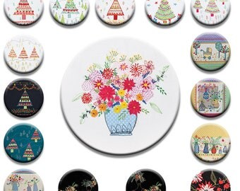 A Selection of beautiful embroidered Vintage design Pattern weights Ideal for weighing down patterns on delicate fabrics no need for pins