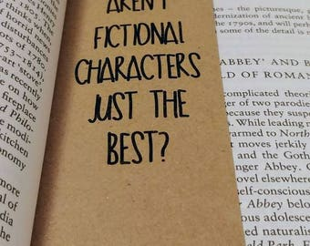 Fictional Characters Bookmark