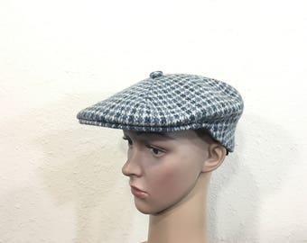90's vintage kangol wool newsboy hat cap made in england size 7 1/4