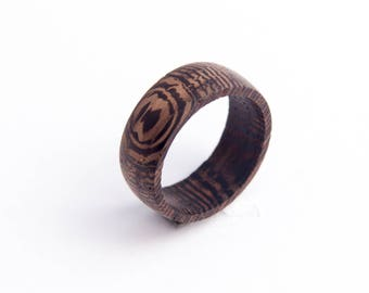 Bands ring Wooden ring Wooden jewelry Brown ring Wooden brown Jewelry Wooden bijou Classic ring Wenge ring Rustic style Wooden jewellery