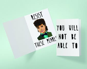 Dustin Resist These Pearls Valentine's Day Stranger Things Inspired Greeting Card