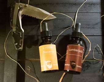 Dual Collection - Crèma Naranja & Lumberjack Beard Oil 1oz each - Beard Moisturizer, Beard Conditioner, Beard Care