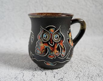 Ceramic-mug-Owl-Stoneware-mug-Tea-cup-Forest-mug-Drink-me-Pottery-mug-Cute-mugs-One-of-a-kind-Gift-under-20-Love-gift-idea-for-her-birthday