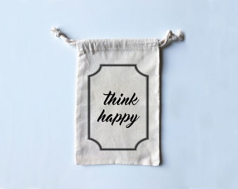 Think Happy - Adorable Travel/Fitness/Grippy Sock/Boxing Wrap/Dance Shoe Bag!