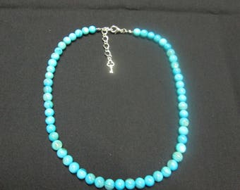 """Necklace made of natural Pearl colored """"Pearl"""", blue, 6 mm"""