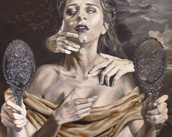 "Large Fine Art Print Bathory Vampire Surrealism 13""X19"""