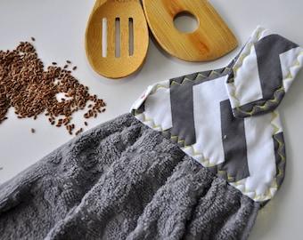 Dish Towel ,Hanging Kitchen Towel, Grey Kitchen Towels, Oven Towel, Hanging  Hand