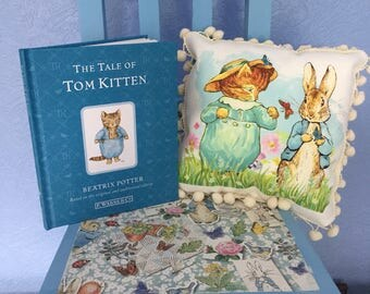 PETER RABBIT. cushions plus story book beatrix potter
