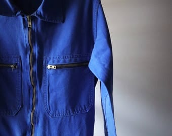 Work overalls / / blue / / combination Made in France / / unisex clothing / / VTG Overalls