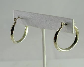 Sterling Oval Pierced Earrings
