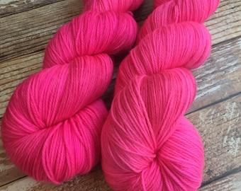 Ines - Vibrant - Hand Dyed Yarn - 100% Super Wash Merino