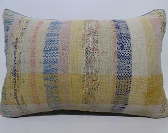 Cotton Kilim Pillow Multicolor Kilim Pillow Home Decor Cushion Cover Bohemian Kilim PillowDecorative Kilim Pillow 16x24 SP4060-910