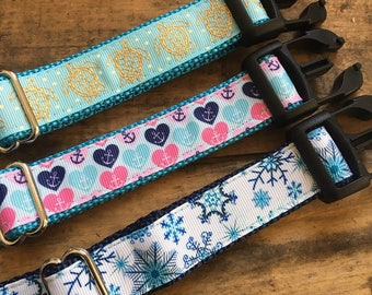 Dog collars | Small Dog Collars | Printed Dog Collars | Festive Dog Collars | Hand Sewn Dog Collars | Sew Fetch Dog Collars | Designer Dogs